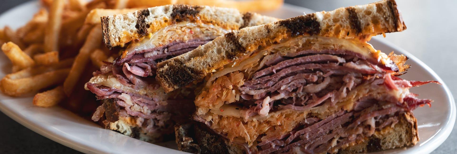 Clyde Iron Works reuben sandwich